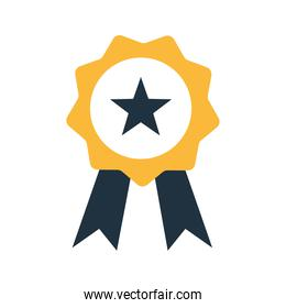 seal stamp with star flat style icon vector design
