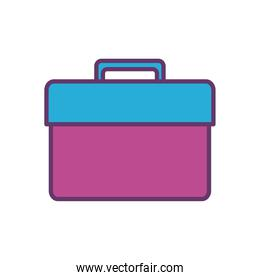 tools box line and fill style icon vector design