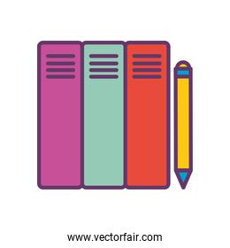 files and pencil line and fill style icon vector design