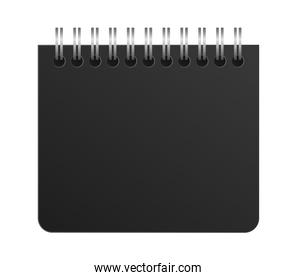 Isolated mockup notebook vector design