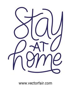 stay at home text vector design