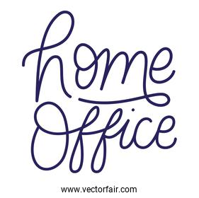 home office text vector design