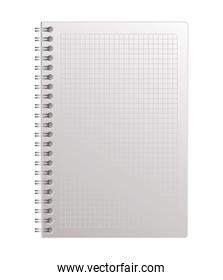 Isolated open mockup notebook vector design