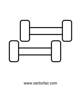 gym weights line style icon vector design