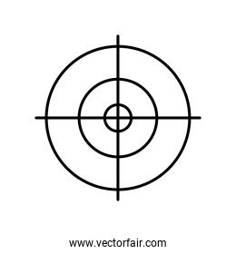 target line style icon vector design