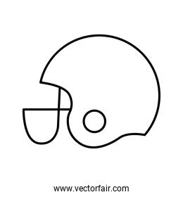 American football helmet line style icon vector design