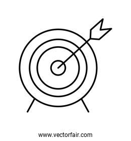 target with arrow line style icon vector design