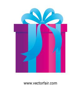 gift box present, purple and blue color