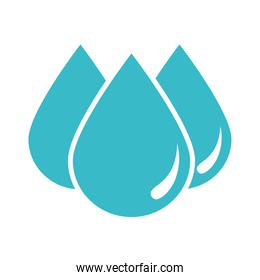 drops water element nature liquid blue silhouette style icon