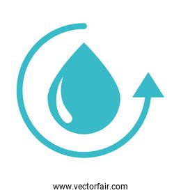 water drop cycle nature liquid blue silhouette style icon