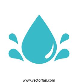 drops water fresh nature liquid blue silhouette style icon