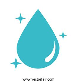 bright water drop nature liquid blue silhouette style icon