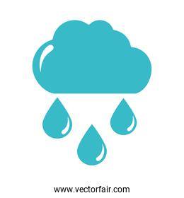 cloud rain drops water climate nature liquid blue silhouette style icon