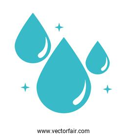 mineral drops water nature liquid blue silhouette style icon