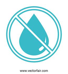 water drop forbidden nature liquid blue silhouette style icon