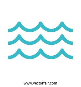 waves water fluid nature liquid blue silhouette style icon