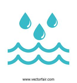 water drops flowing nature liquid blue silhouette style icon