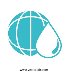 world water drop nature liquid blue silhouette style icon