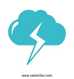 cloud thunderbolt weather water nature liquid blue silhouette style icon