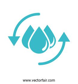 save water drops nature liquid blue silhouette style icon