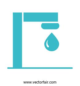 tap and water drop nature liquid blue silhouette style icon