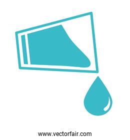 glass cup pouring water drop nature liquid blue silhouette style icon