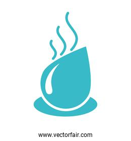 water drop nature liquid blue silhouette style icon