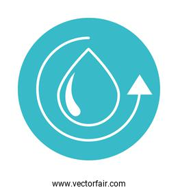 water drop cycle nature liquid blue block style icon