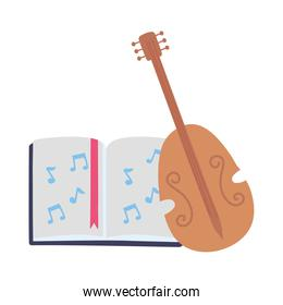 isolated fiddle instrument musical book video creativity activity image