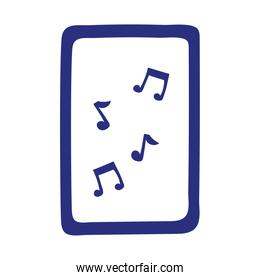 note musical in board isolated icon white background