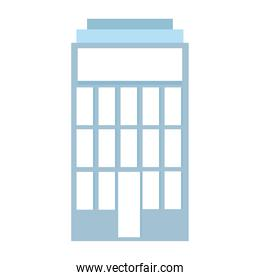 building facade tower commercial or residential isolated icon design white background