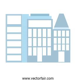 skyscrapers building urban city isolated icon design white background
