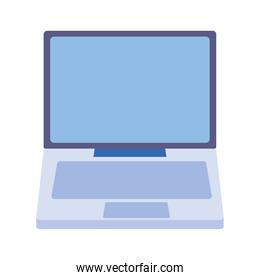 computer monitor device digital isolated icon design white background