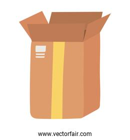 open delivery cardboard box fragile isolated design icon