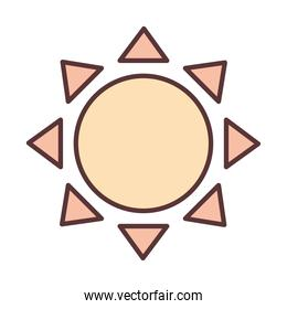 sun weather summer hot summer line and fill icon