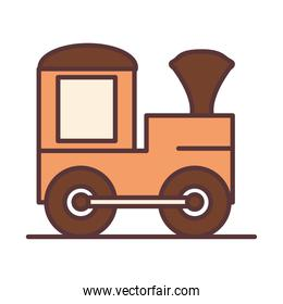 baby train wagon toy, object newborn template line and fill design icon