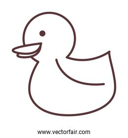 baby rubber duck toy, object newborn template line design icon