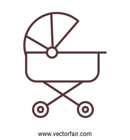 baby cute pram transport, welcome invitation line style icon