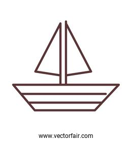 baby sailboat toy, object newborn template line design icon