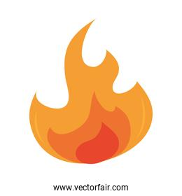 fire flame burning hot glow flat design icon