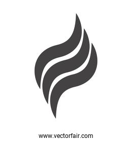 fire flame burning hot glow silhouette design icon