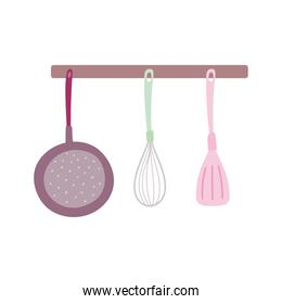 hanging cutlery kitchen isolated design icon white background