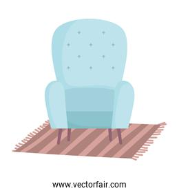 chair carpet decoration interior home isolated design icon white background