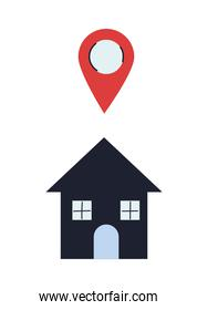 houses with location device for delivery