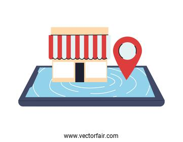 stores with location on screen