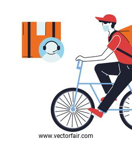 customer service with courier delivery