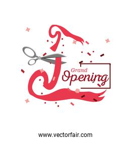grand opening detailed style icon vector design