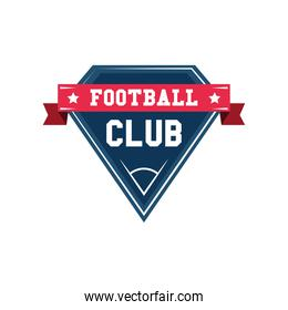 football club shield detailed style icon vector design