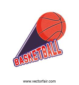 ball of basketball detailed style icon vector design