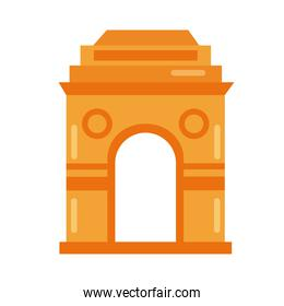 mosque arch flat style icon